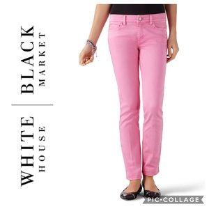 WHBM Blanc Begonia Slim Ankle Jeans Sz 0
